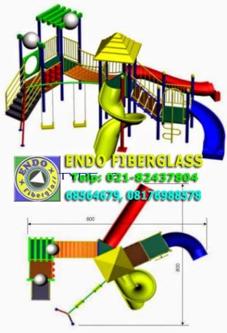 Produksi Playground tempat bermain anak Type A ukuran 8x8 meter
